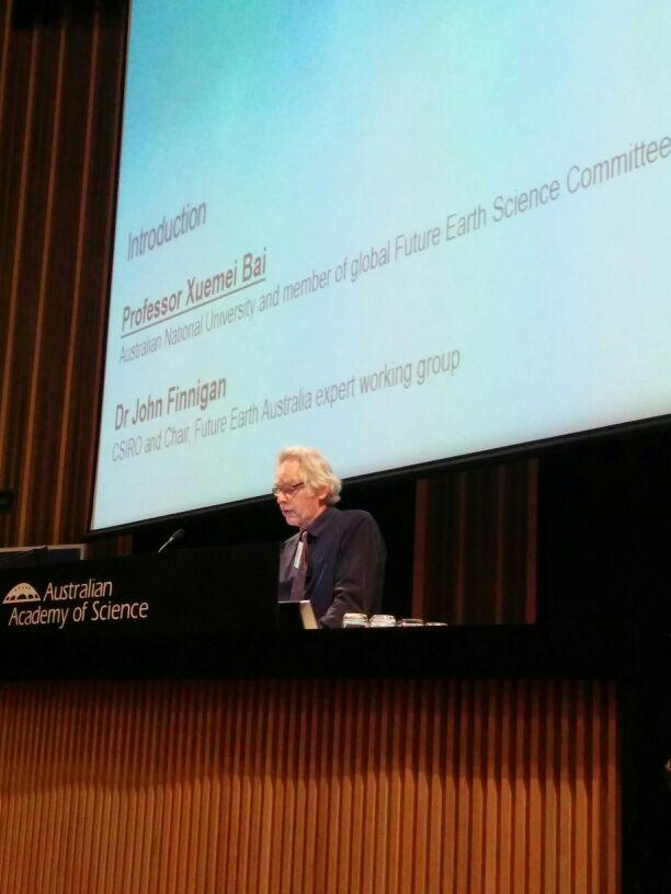 Dr John Finnigan @CSIROnews on why we need @futureearth #FutureEarthOz https://t.co/iNXfG6a4Hy