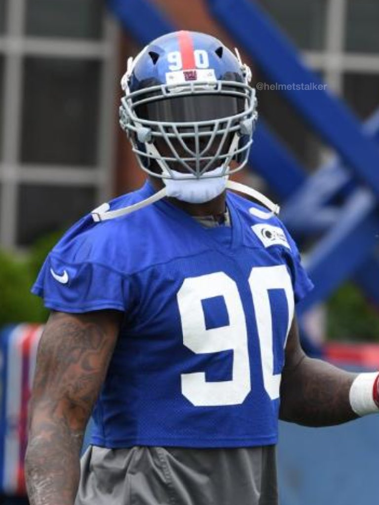 "Helmet Stalker on Twitter ""Giants DE Jason Pierre Paul is wearing"