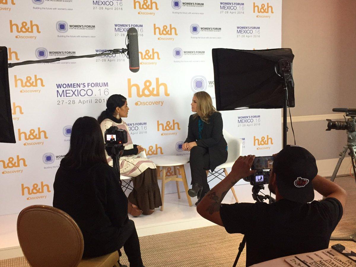 Con @EufrosinaCruz para @DiscoveryHH_Mx @Discovery_Mx @WomensForum https://t.co/vX4oTP3oZL