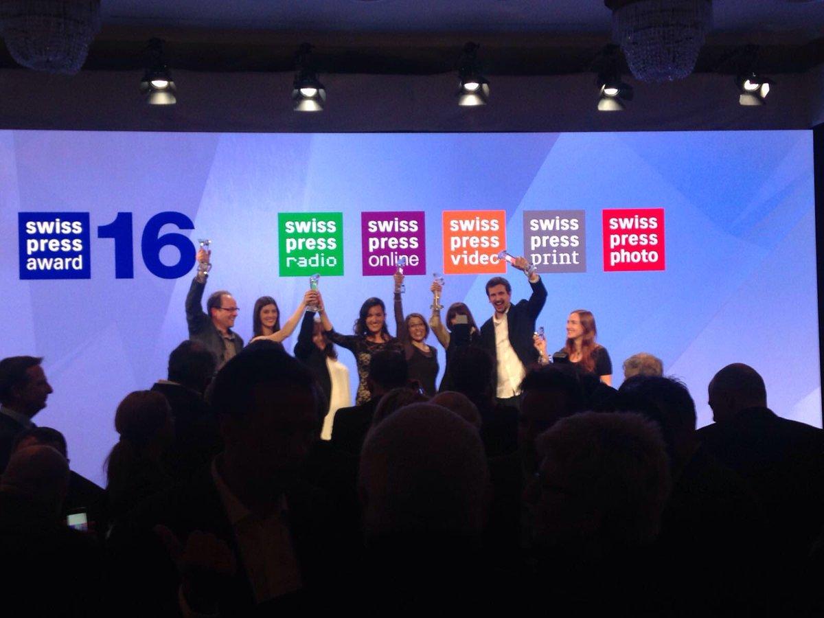 Herzliche Gratulation allen #swisspressaward Gewinnern! Und ganz besonders meinen @TeleBaernTV Kolleginnen #welldone