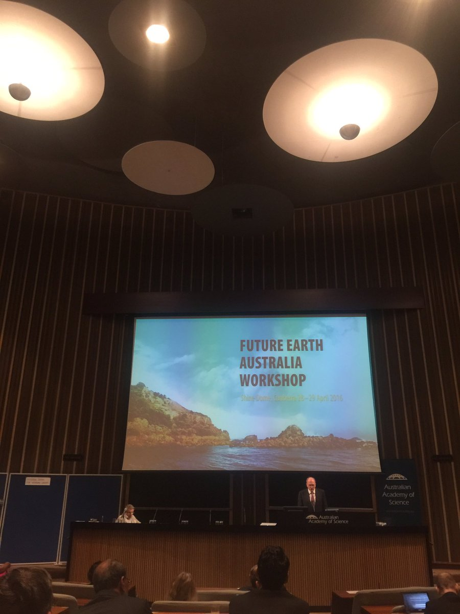 #FutureEarthAustralia workshop opened by Prof Andrew Holmes at the #ShineDome #sustainability #future #global https://t.co/20zlTvAwEb