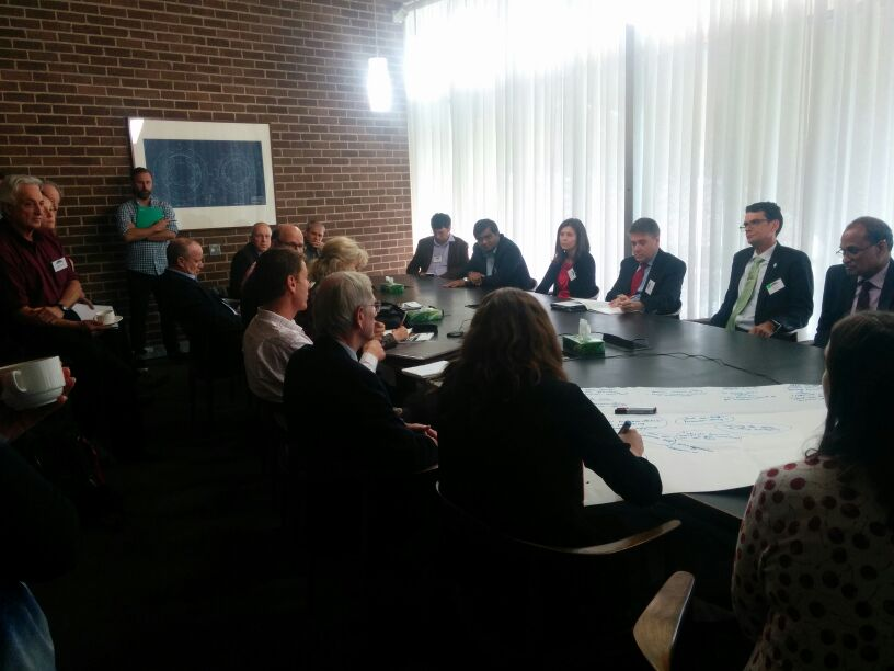 One of four breakout groups at #FutureEarthOz led by Andrew Petersen @sustbusinessaus role of #business in #SDGs https://t.co/xgp0Di49Nh