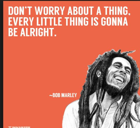 Every little thing is going to be alright!<br>http://pic.twitter.com/hPQw1uIgYq