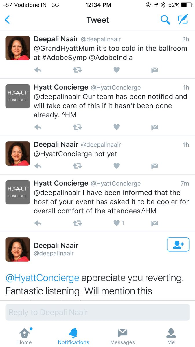 Realtime AC Monitoring/ Request over @Twitter at #AdobeSymp #Wish @deepalinaair @HyattConcierge https://t.co/3j47Cw1Wlo