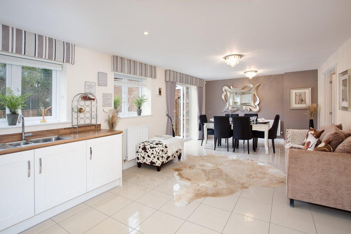 Bovis Homes on Twitter Open plan kitchen dining area in the Walton – Bovis Homes Floor Plans