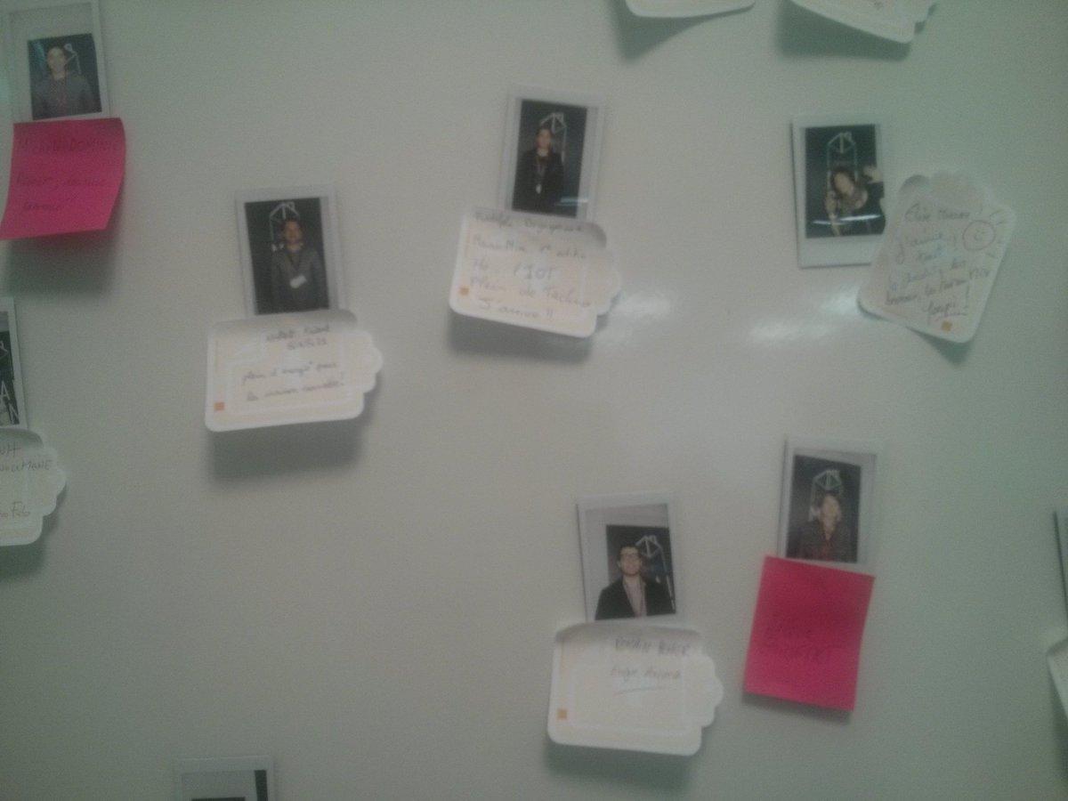 #maisonmix Dans la salle Concept, un tableau à trombines pour découvrir les participants https://t.co/lc8fkUTXNg