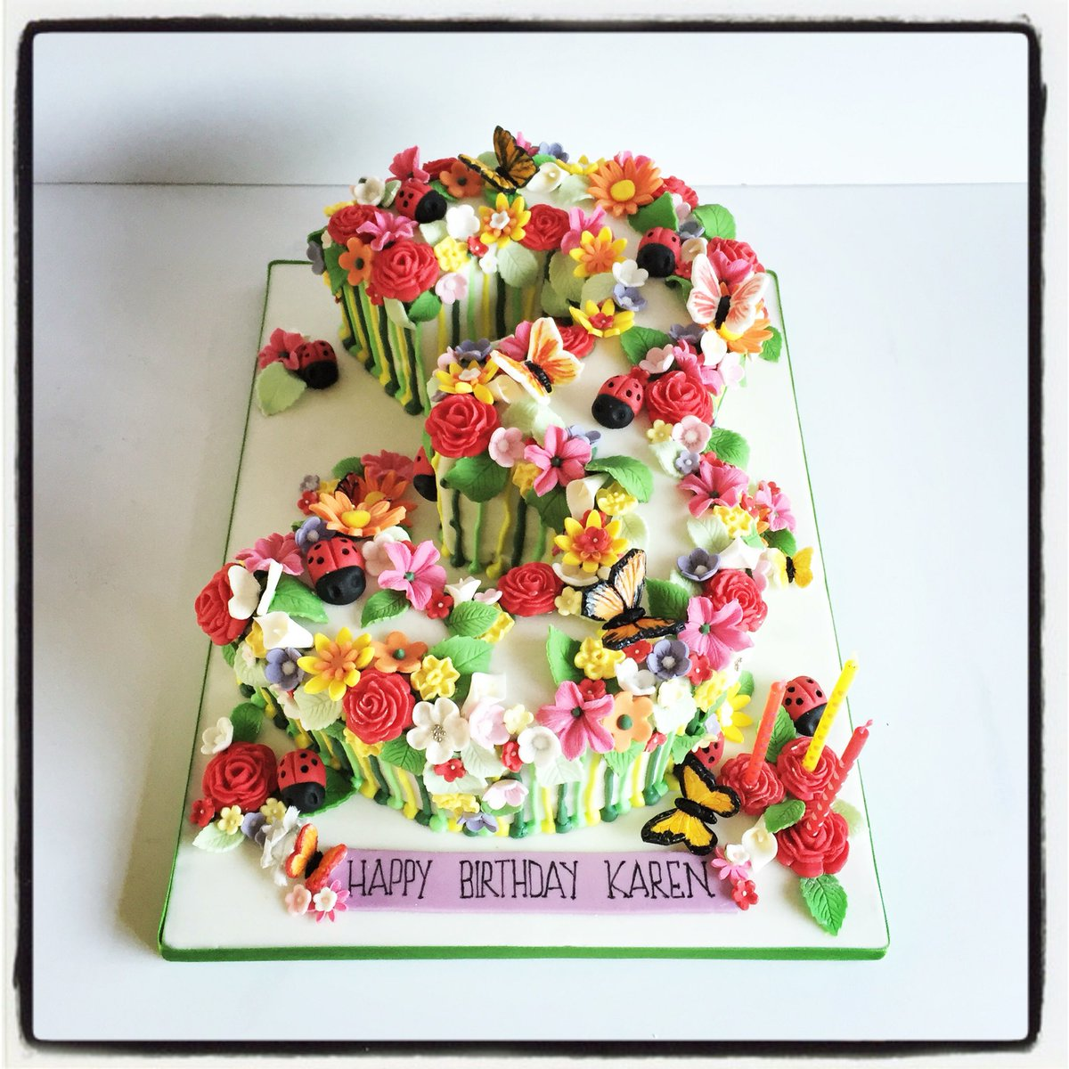 Excellent Rima Hassan On Twitter Spring Themed Cake Cake Birthday Personalised Birthday Cards Beptaeletsinfo