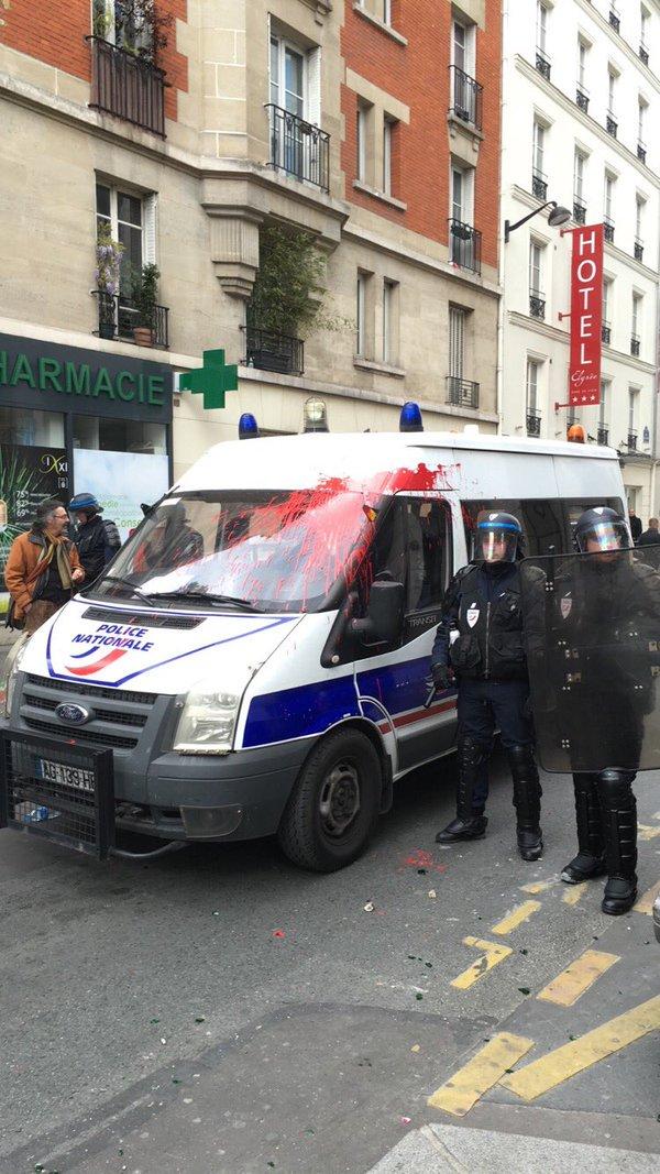 Biểu tình bùng phát dữ dội trên khắp nước Pháp chống đạo luật Lao động mới