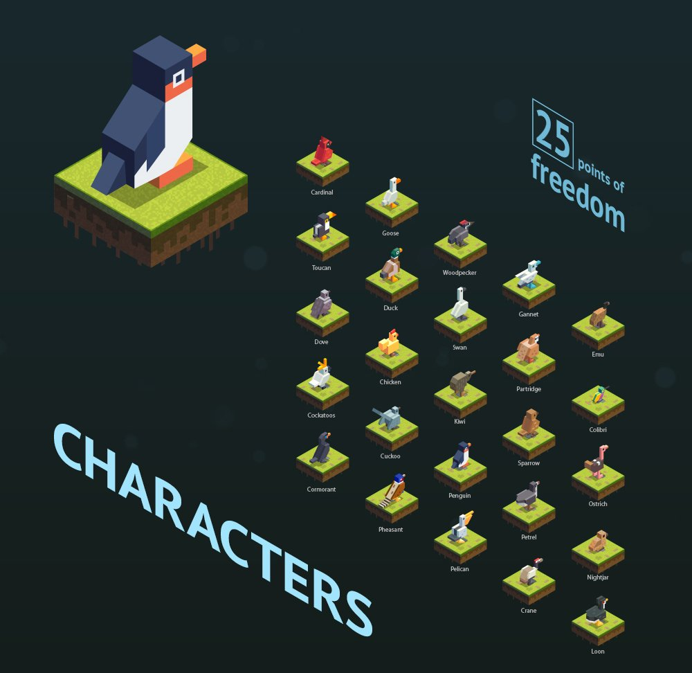 Character design for Freebird iOS game. Was a great challenge for me, liked it a lot! #gamedev, #gamedesign, #mobile https://t.co/CRW82i5p6M