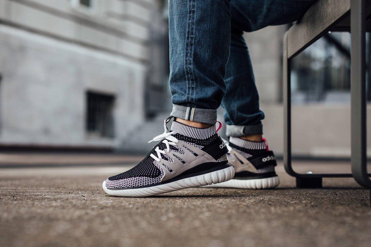 Adidas Tubular Nova Primeknit White On Feet