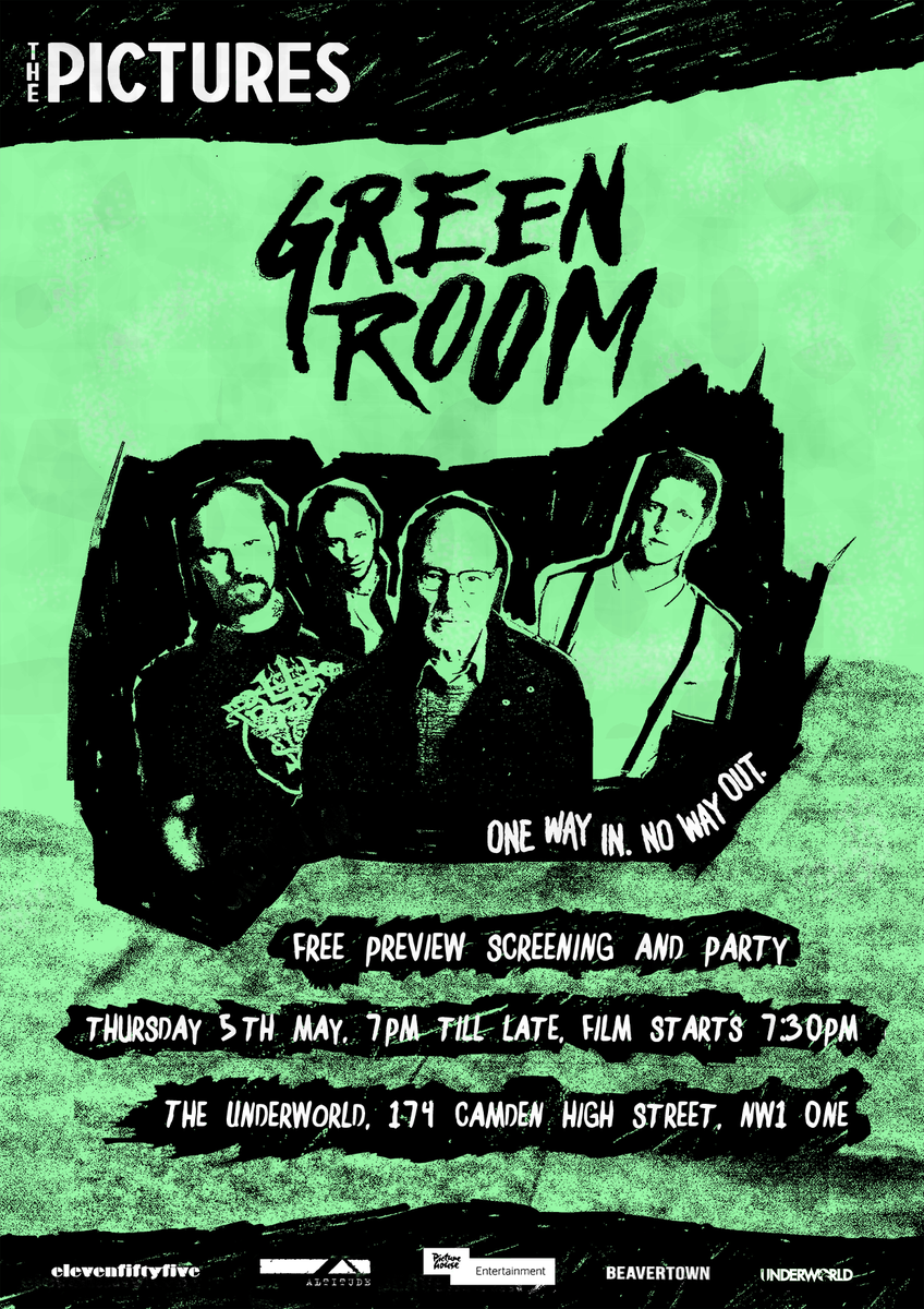 RETWEET to be in to win 2 tix to @elevenfiftyfive's screening of @GreenRoomFilm! #ThePictures @Picturehouses https://t.co/A4XJxgKrtq