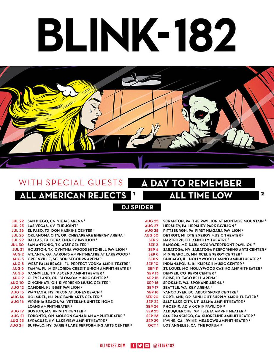 The rumors are true...we're going on tour this summer with @blink182! Tickets are on sale May 6th. https://t.co/L0F1beat9r