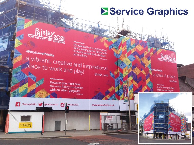 Service Graphics Ltd On Twitter SG Installed 60sqm Of Scaffold Simple Inspirational Alien City