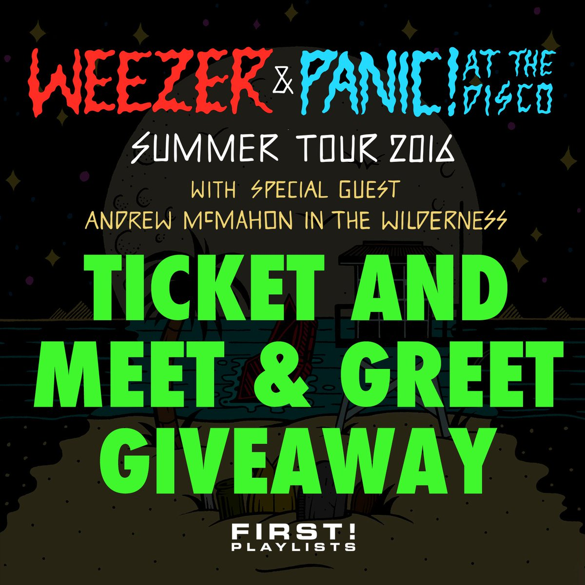 Enter to win a pair of tix + meet & greet passes w @panicatthedisco @weezer & @andrewmcmahon https://t.co/I6oGxyqdKo https://t.co/aXoxQUlHk0