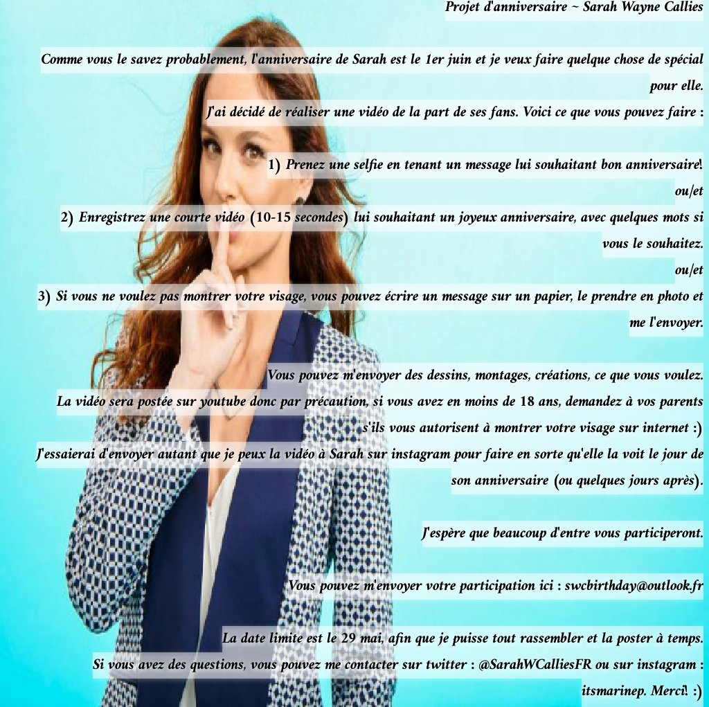 Swc France On Twitter Projet D Anniversaire Pour Sarah Birthday