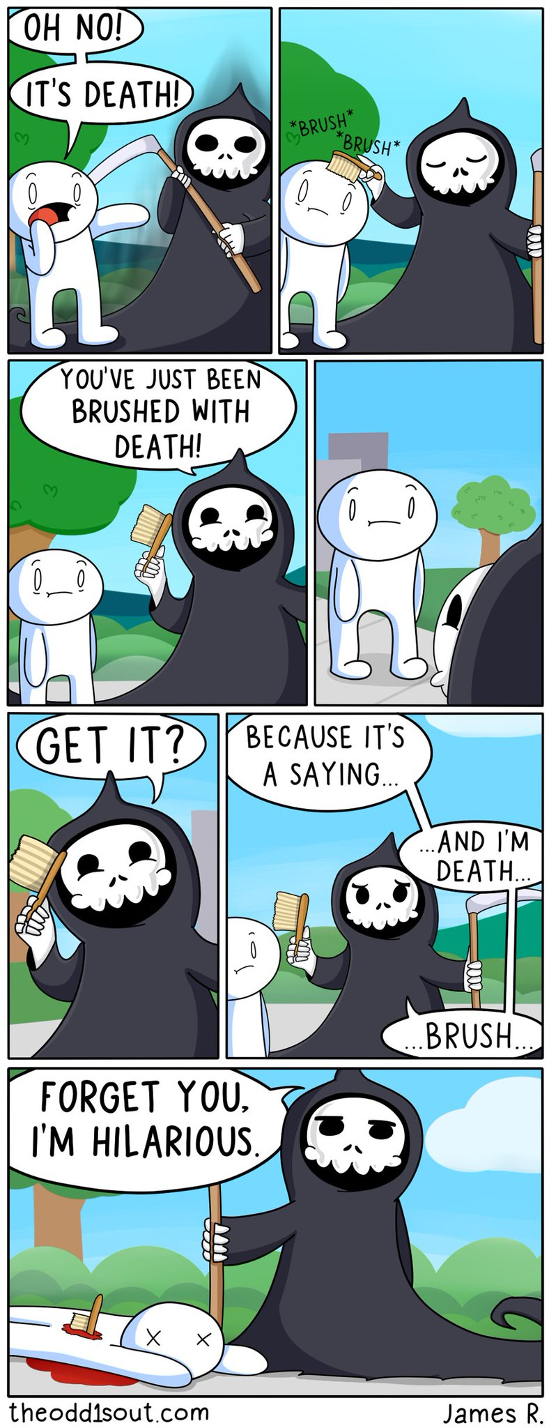 Theodd1sout On Twitter Quot New Comic Quot Brushed By Death Quot
