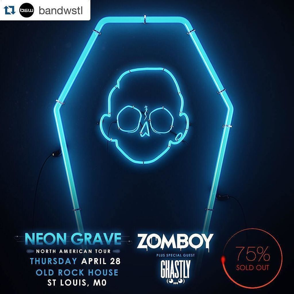 #Repost @bandwstl ・・・ Tickets are 75% sold out for @zomboy and @ghastly tonight at the @ol… https://t.co/wIPPqRhd4G https://t.co/m87UtBKu0Y
