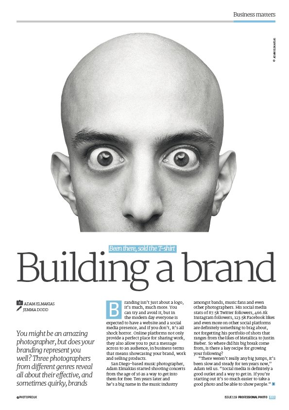 We talk #branding with #musicphotographer @elmakias in issue 119, on sale now! https://t.co/RR0s6ZJXtr