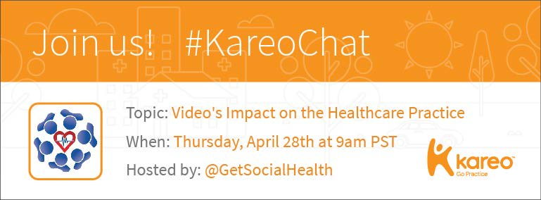 Welcome to #KareoChat w host @GetSocialHealth! How is Video Is Being Used in #Healthcare Practices? Let's discuss! https://t.co/kVs9lOR6GI