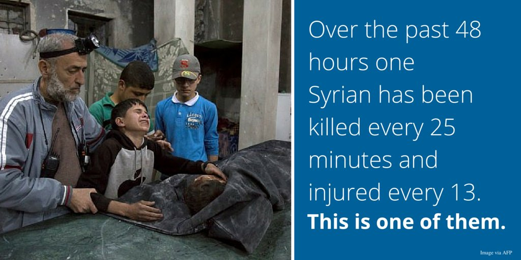 Attacks against hospitals are a war crime. They're never a target. Civilians must be protected. #SaveSyriaCeasefire