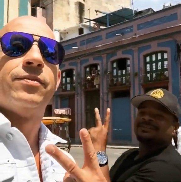 Fast & Furious 8, Vin Diesel pubblica foto e video su Instagram da Cuba