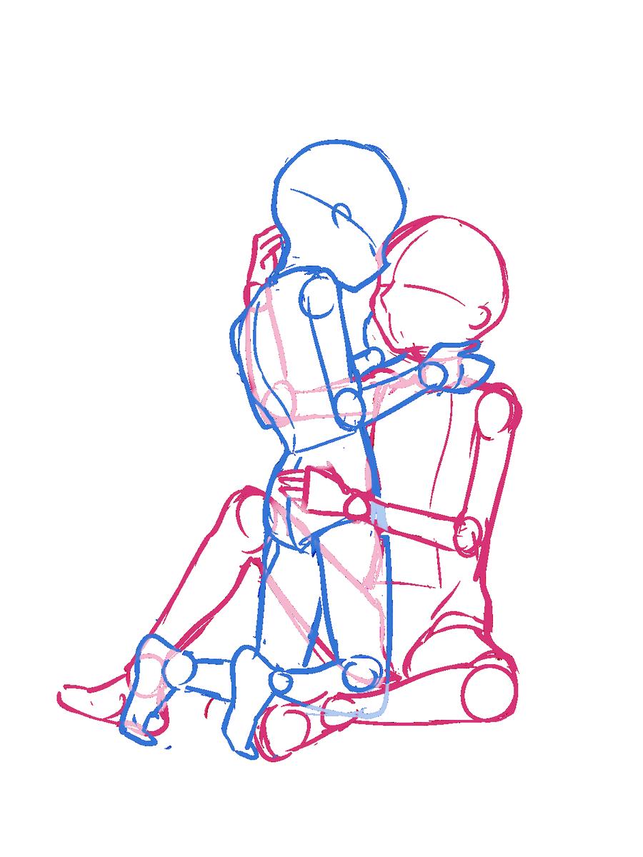 無料イラスト画像 綺麗なバックハグ イラスト 2人 構図 カップル