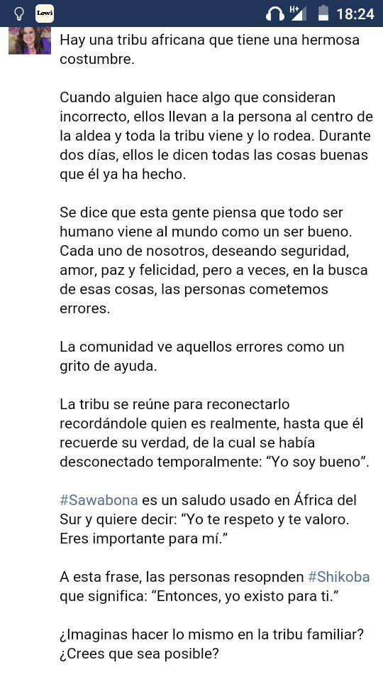 Sandra En Twitter Sawabona Yo Te Respeto Y Te Valoro