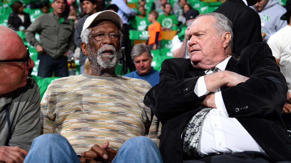 What 19 Combined Rings Looks Like Celtics Legends Bill Russell 11 Tom