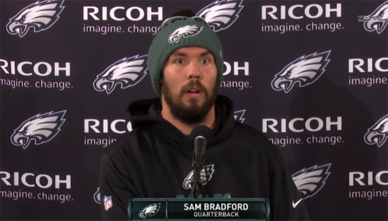 Let's check in on Sam Bradford right now. https://t.co/t3yqMgTZ2Z