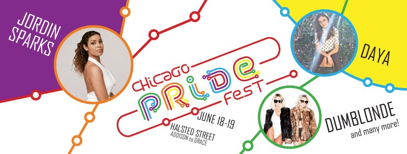 Get excited! @JordinSparks , @theofficialdaya, @dumblondemusic & many more coming to Chicago Pride Fest June 18-19! https://t.co/728XgkbJbP