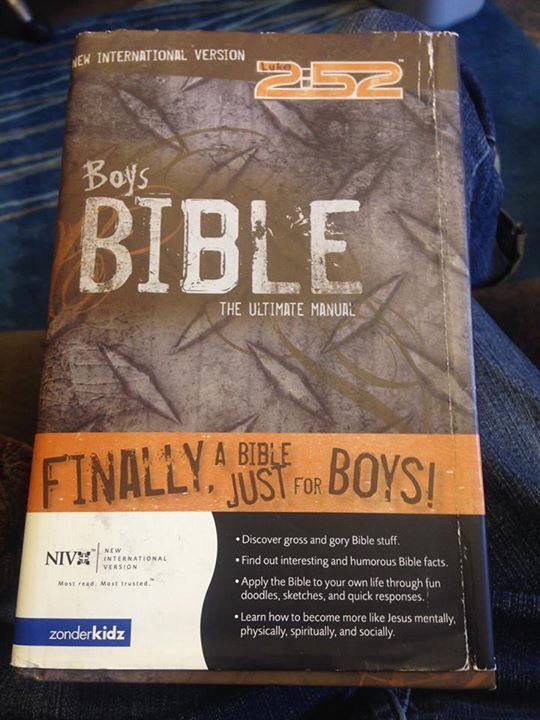 """Finally a Bible just for boys""  -aren't all of them just for boys?  ""Discover gross and gory Bible stuff""  -omg wow https://t.co/TaAyOuu4K1"