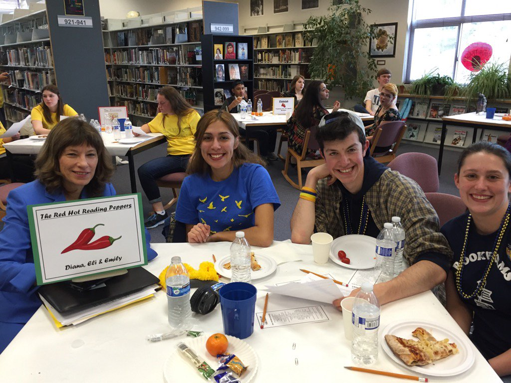 Dr Joyce Stewart Everett School District Associate Superintendent supports reading at the Tri-District Battle of the Books