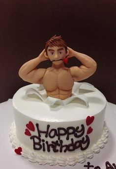 sexy birthday cakes for men