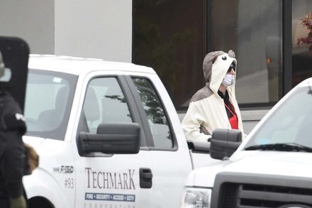 Progressive in a panda suit threatens to blow up Fox 45 building in Baltimore