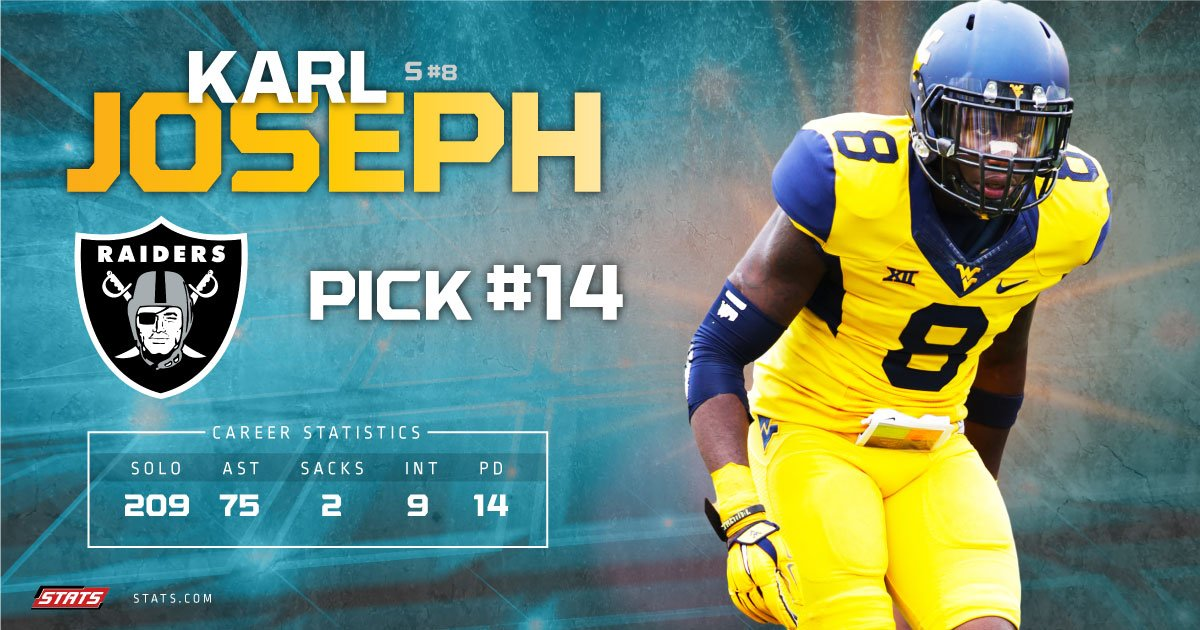 The #Raiders continue to add to their impressive young defense by selecting #KarlJoseph in the #2016NFLDraft https://t.co/ykBX6P6ni3
