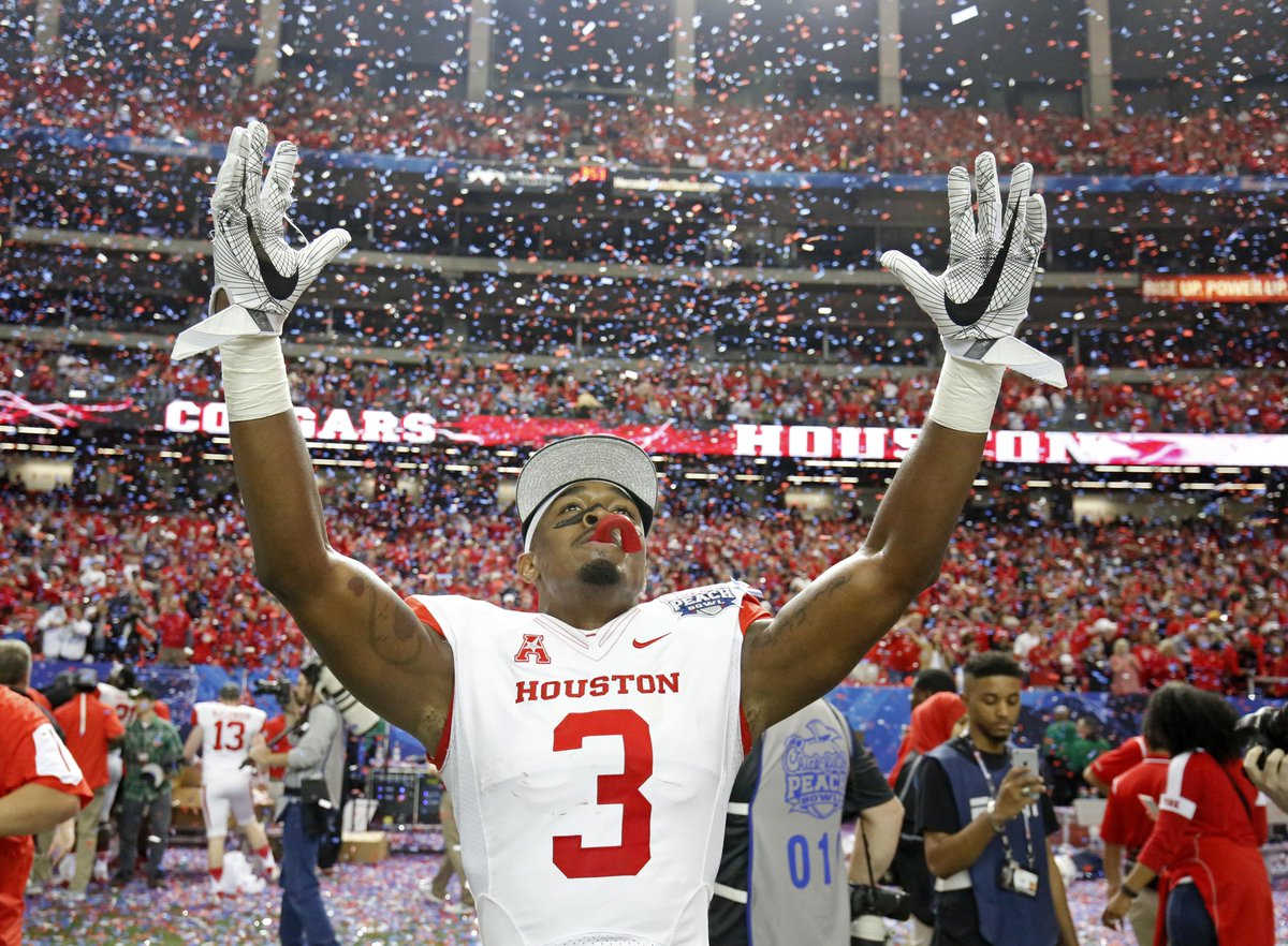 @UHCougarFB cornerback William Jackson III was drafted 24th overall by @Bengals