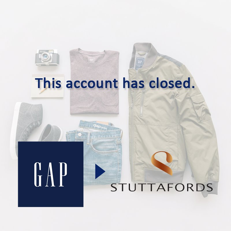 This account has been closed. Follow @Stuttafords_za for more Gap trends. https://t.co/3dt3MxkQOB