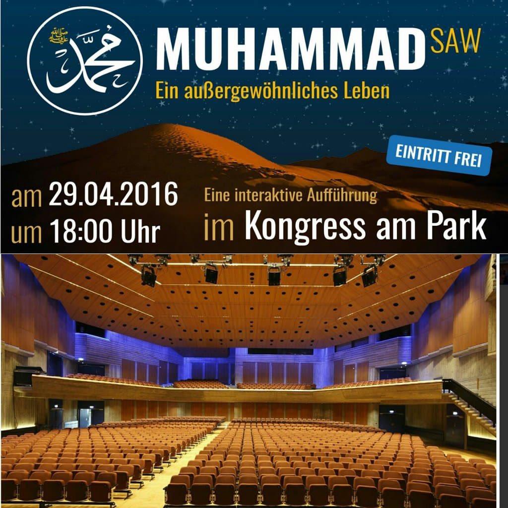 Muhammad- The Story a big program by Ahmadiyya Muslim Association in #Ausburg #Germany today. Entry freepic.twitter.com/N1HxpJZc31