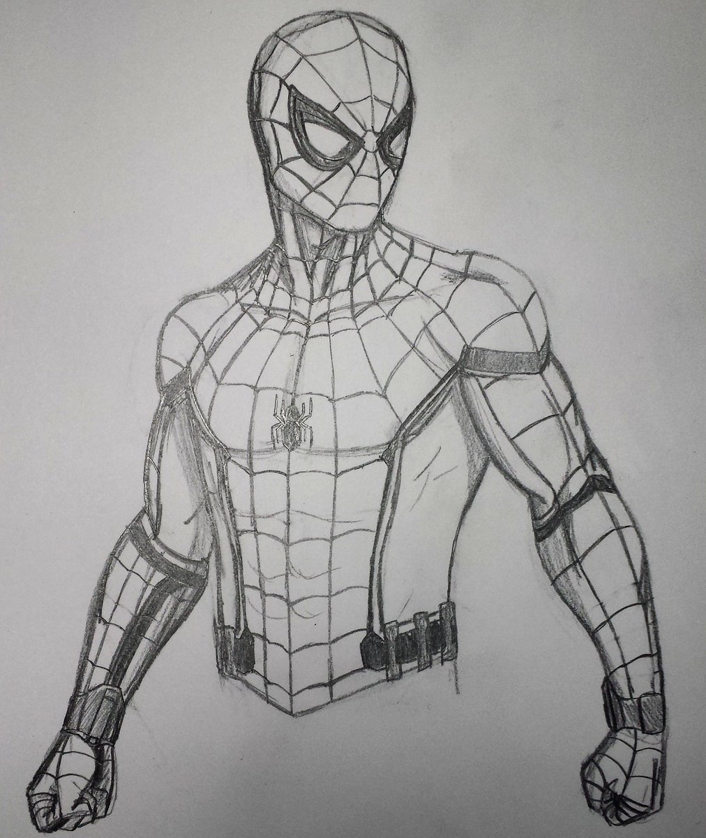 Tevin jones on twitter mcu spider man sketch tomholland1996 spiderman teamironman captainamericacivilwar drawing marvel comics art