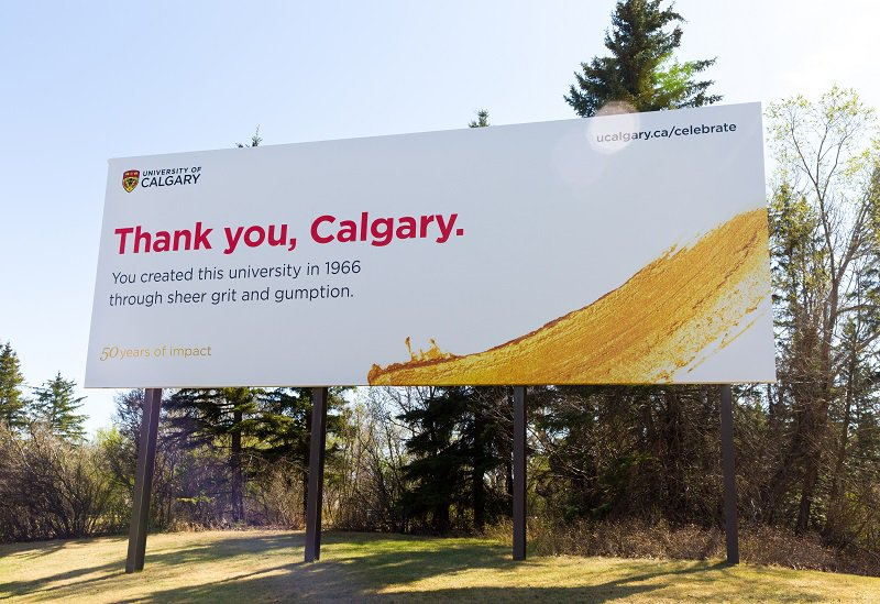 Thank you Calgary. We're proud to have grown up with this amazing city. #ucalgary50 https://t.co/3LZZ1GRKMj