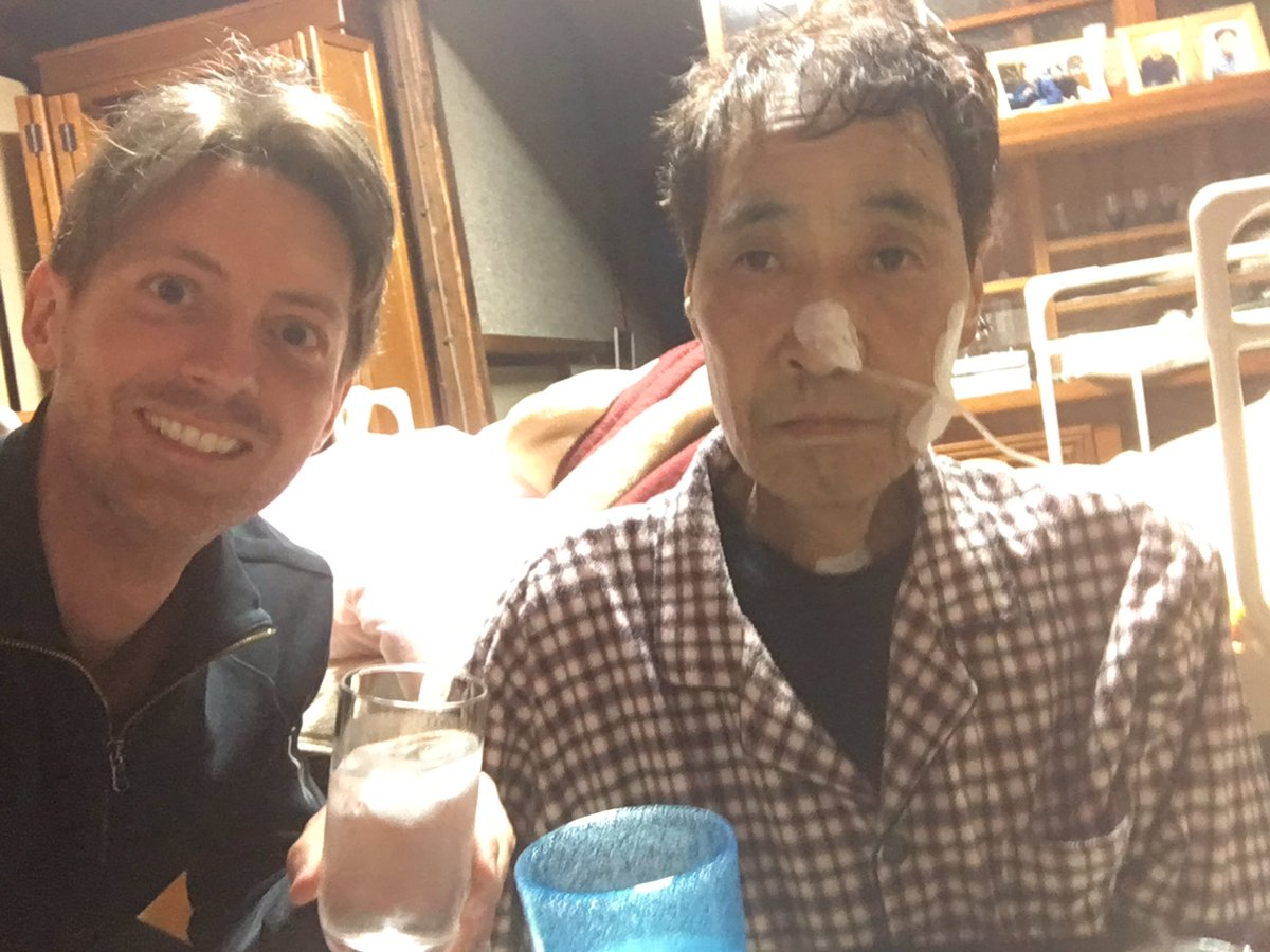 By Monday, Mr Hata could no longer swallow. But rather than water, he used shochu (alcohol) to wet his dry lips. https://t.co/cT5o9SnFOL