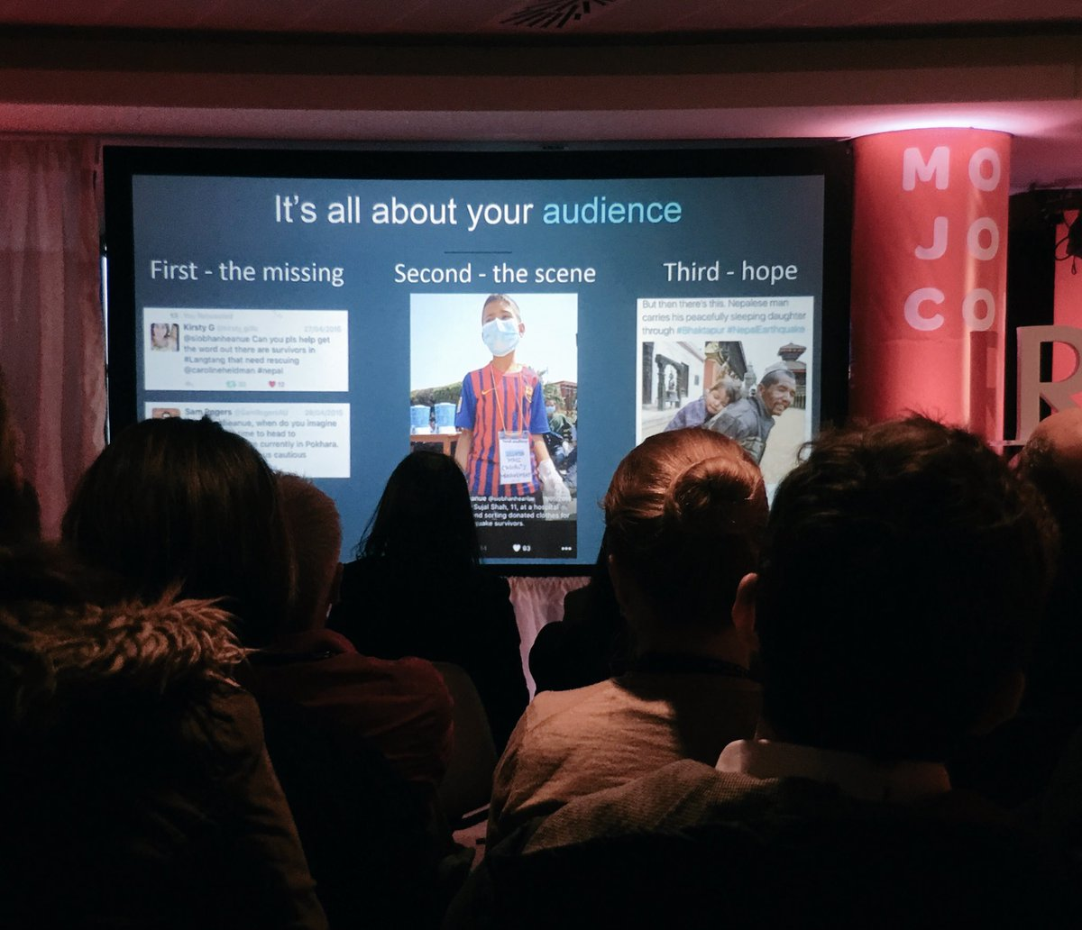 + link it with the brand-message you are working with. @siobhanheanue about #socialmedia communication.  #mojocon https://t.co/7hc2NPQ1Zs