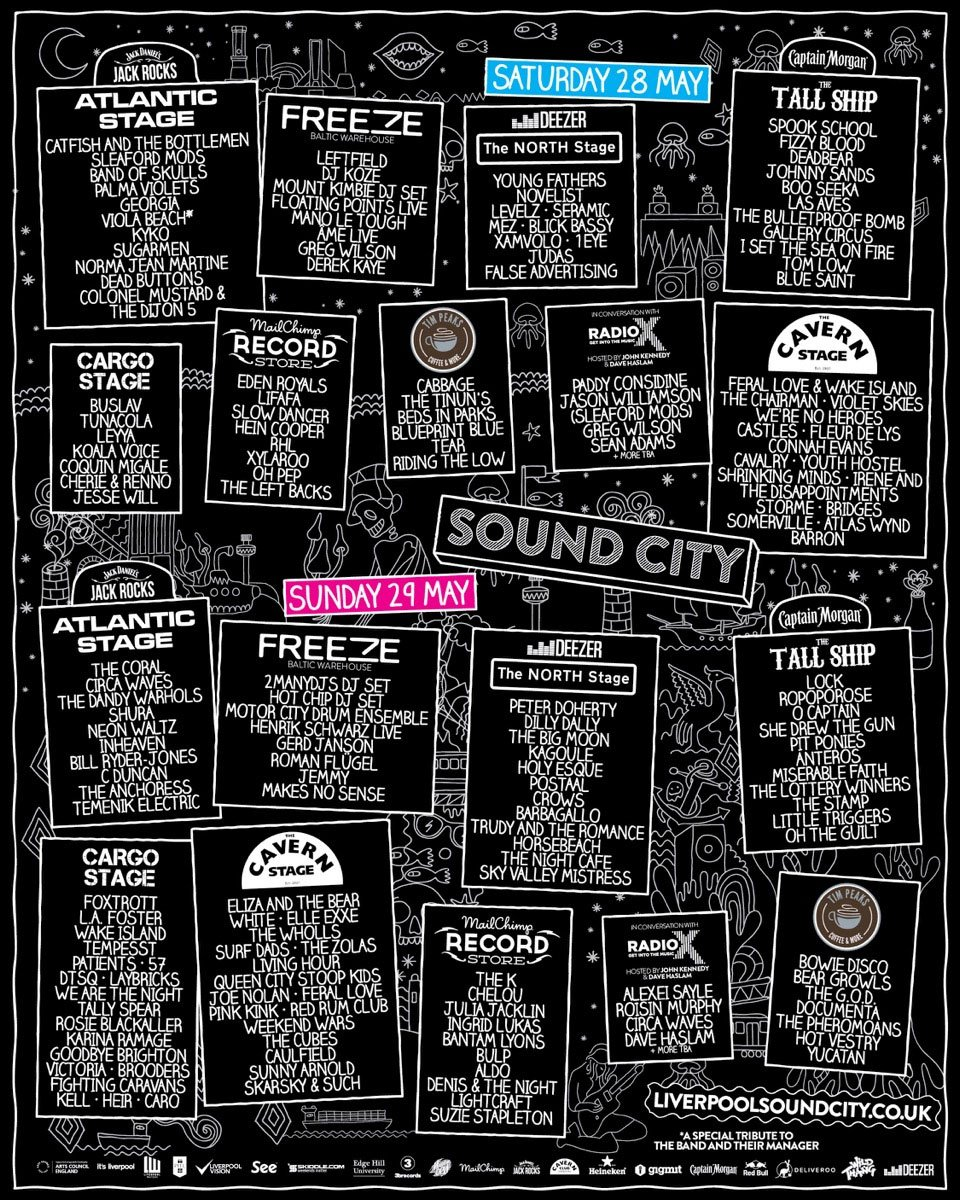 We've 2 @SoundCity VIP tickets for an LJMU student to win! Retweet by Tues to enter. (T&Cs: https://t.co/ntlRdwmLOT) https://t.co/dsflk4sAGb