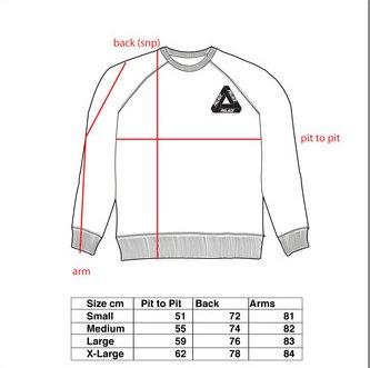Jp On Twitter Ss16 Palace Summer 16 Size Chart T Shirt Crew Hood