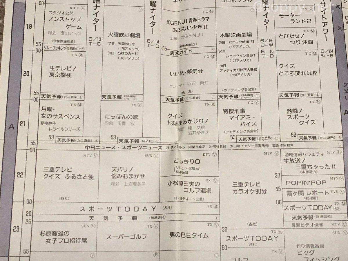 三重 県 テレビ 番組 表