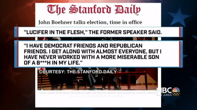 Cub reporter at @Stanford_Daily is 1st to break John Boehner