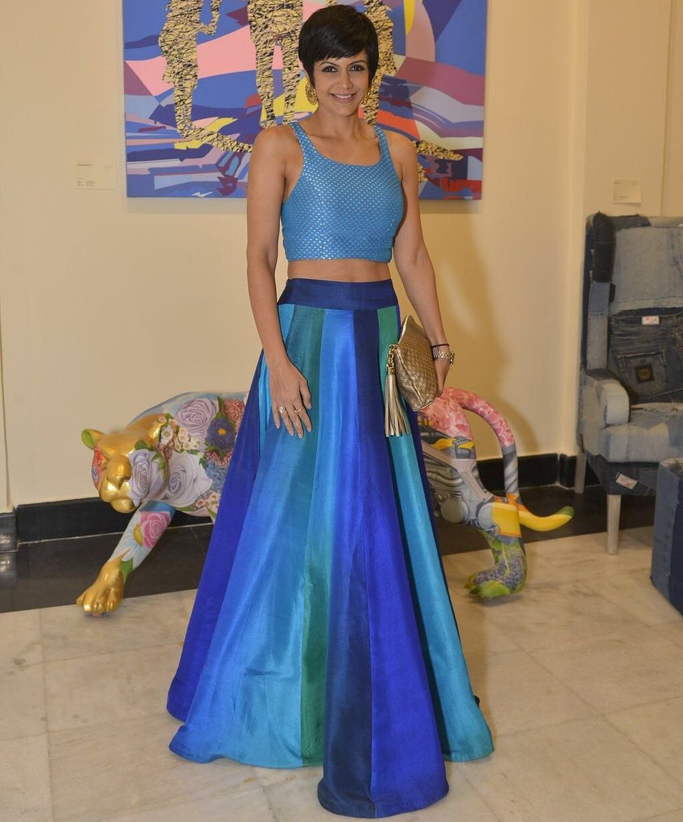 Mandira Bedi Designs on Twitter   A long skirt and a crop top is an ideal  summer wedding outfit  Shop this new  MBDesign exclusively at  mthestore. Mandira Bedi Designs on Twitter   A long skirt and a crop top is