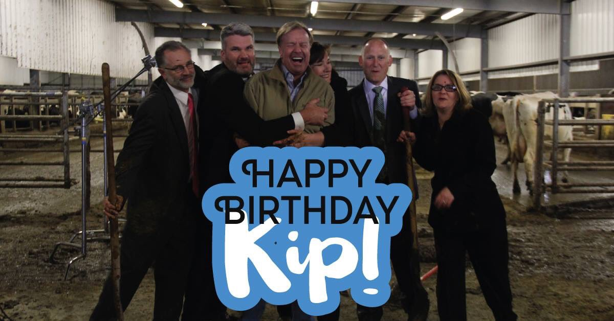 Happy Birthday Kip!  These folks made the latest campaign commercial a great success! #TomFarms #KipForCongress https://t.co/kAf5F0nSaR