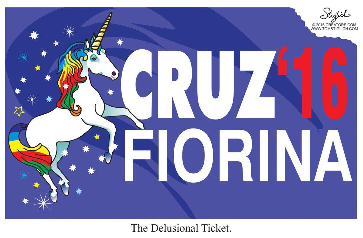 Cartoons: Ted Cruz picks Carly Fiorina as running mate