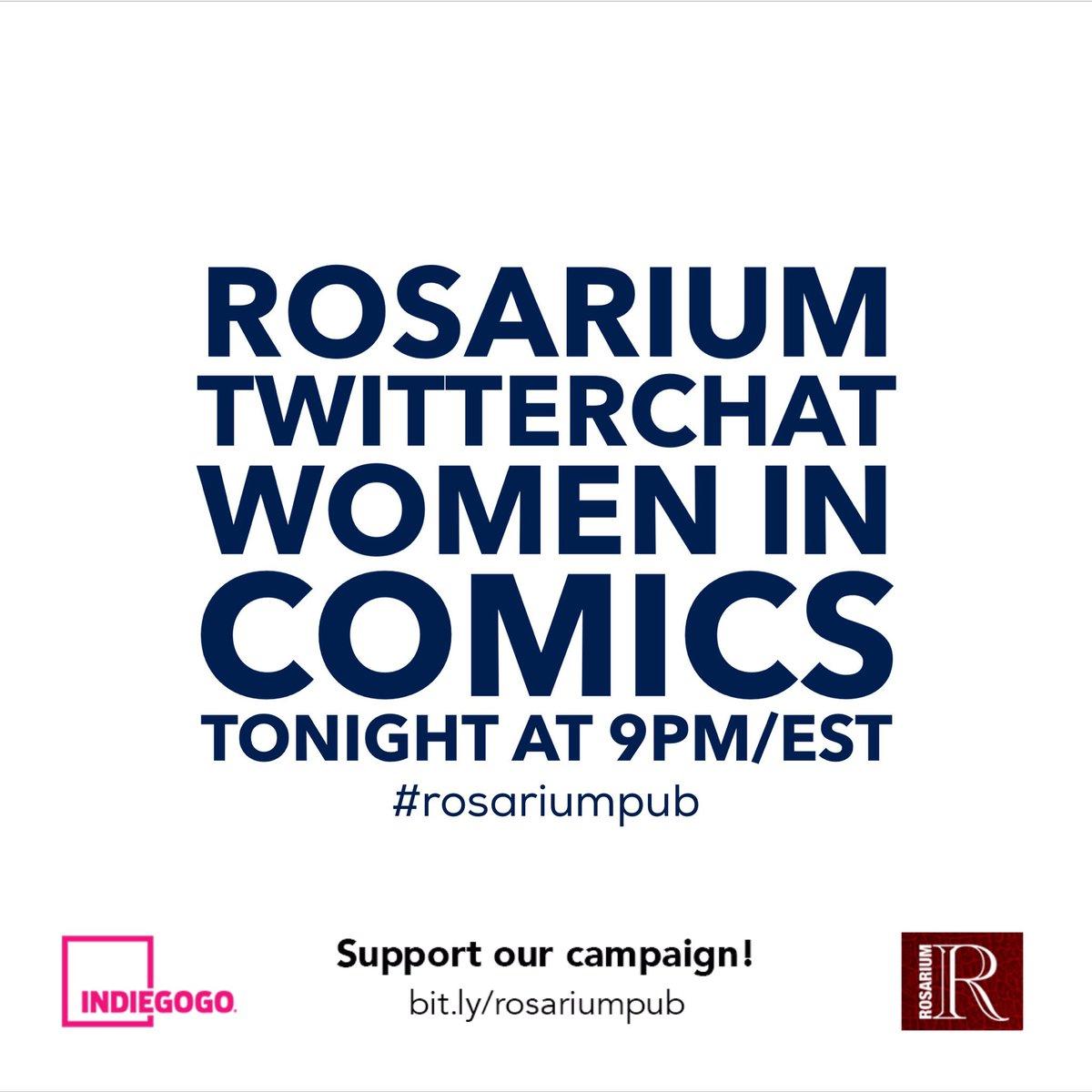 .@Ovenland @candybriones @LizMayorga1 @trinidadesco r talking #womenincomics @9pmEST please join us! #rosariumpub https://t.co/rRFU0f4ILw